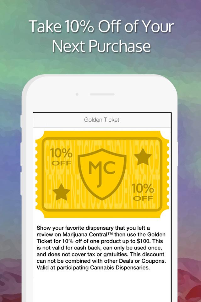 Marijuana Central Golden Ticket